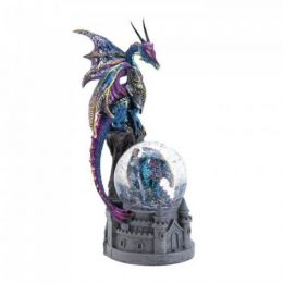 Dragon Castle Glittering Snow Globe