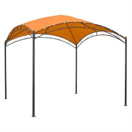 10Ft x 10Ft Dome Top Gazebo Shade Tent Bronze Terra Cotta