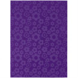 5' x 7' Purple Area Rug with Floral Flowers Pattern - Made in USA