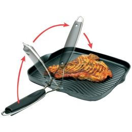 "Starfrit 10"" X 10"" Grill Pan With Foldable Handle"