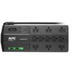 Apc 11-outlet Surgearrest Surge Protector With 2 Usb Charging Ports
