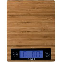 Taylor Precision Products Bamboo Digital Kitchen Scale