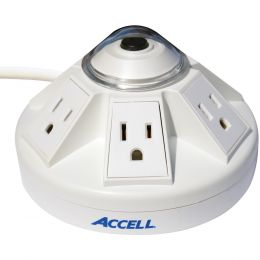 Accell Powramid 6-outlet Power Center And Surge Protector (white)