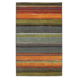 5' x 8' Rainbow Stripes Area Rug with Orange Blue Green Red Purple