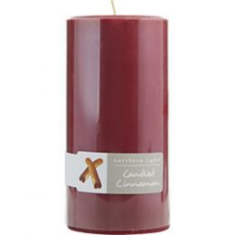 Candied Cinnamon One 3x6 Inch Pillar Candle. Burns Approx. 100 Hrs. For Anyone