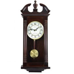 Bedford Clock Collection 27.5 Inch Chery Oak Wall Clock
