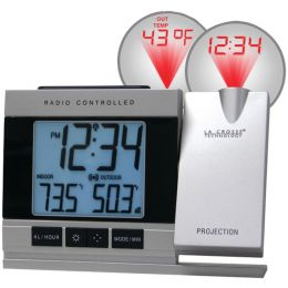 La Crosse Technology WT-5220U-IT-CBP Atomic Projection Alarm Clock with Indoor and Outdoor Temperature