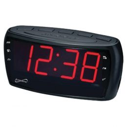 Supersonic SC-379 Digital AM/FM Dual Alarm Clock Radio with Jumbo Digital Display