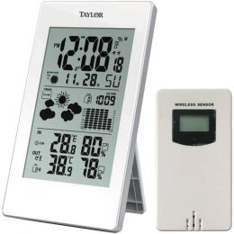 Taylor Precision Products 1735 Digital Weather Forecaster with Barometer and Alarm Clock